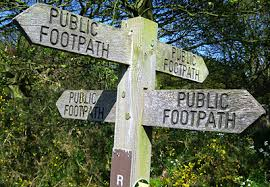 Public footpath sign rights of way
