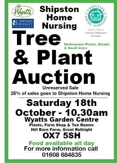 tree and plant auction for shipston home nursing 2014