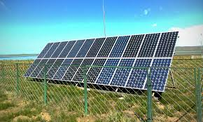 solar panels on farm land