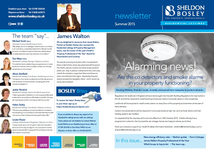 Sheldon Bosley Residential Lettings Newsletter June 15 - Sheldon Bosley