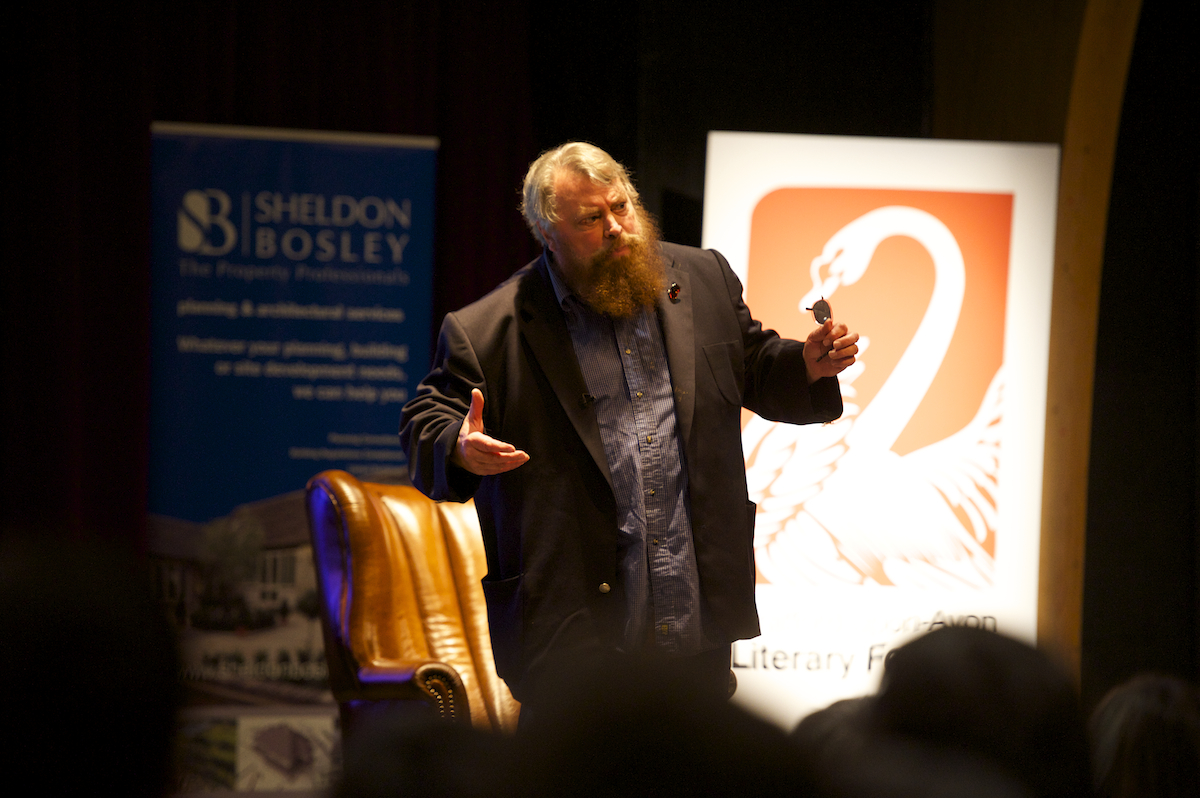 Brian Blessed in Stratford upon Avon