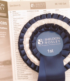 sponsored rosette and programme entry