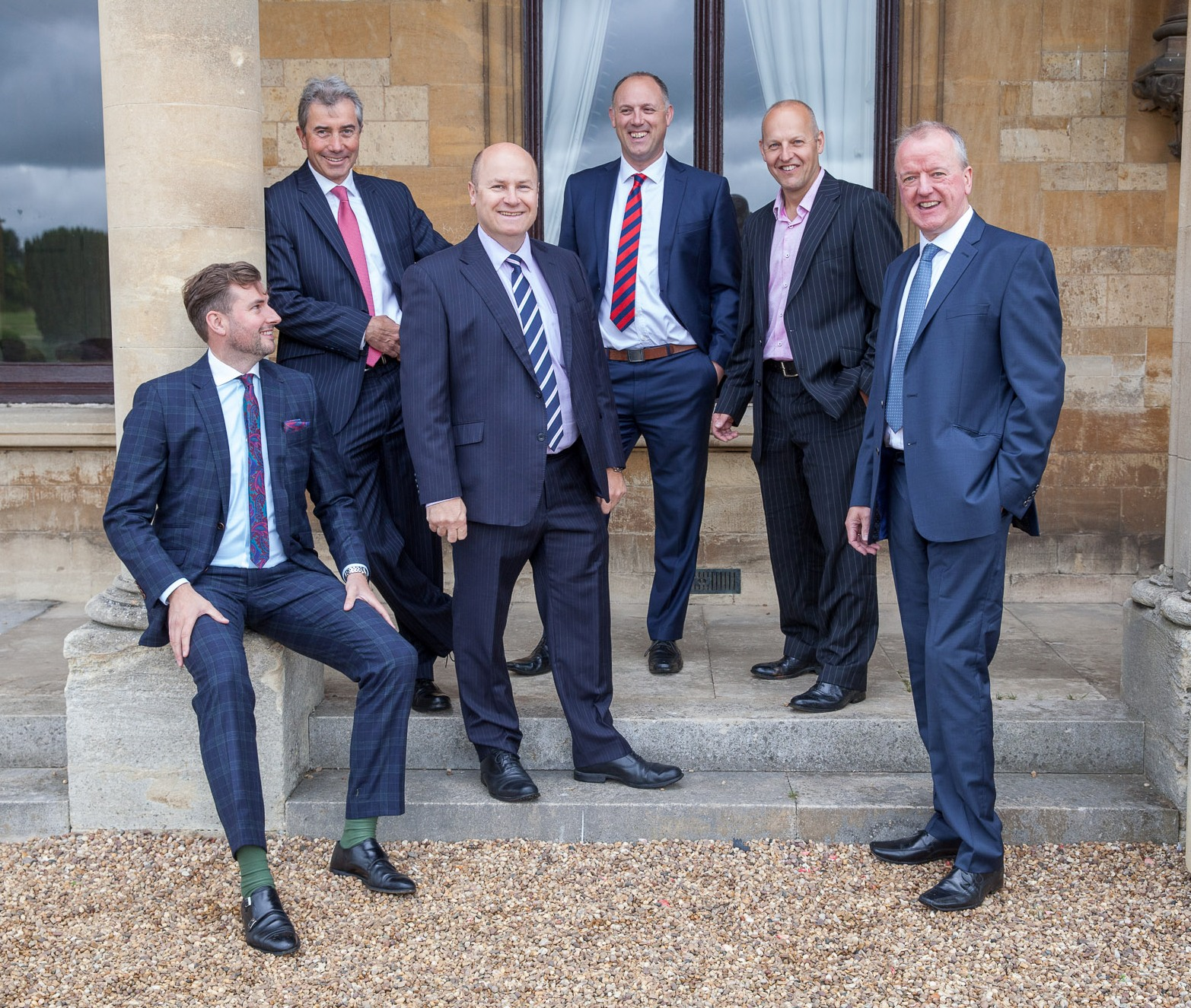 Pictured L-R Oliver Knight, James Walton, Marcus Faulkner, Sam Russell, Mike Cleary, Simon Wilkinson