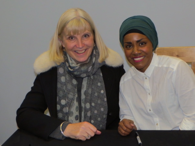 Sue James with Nadiya Hussain - Stratford Literary Festival 2016