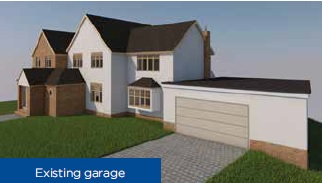 existing garage ullenhall - planning permission - case study