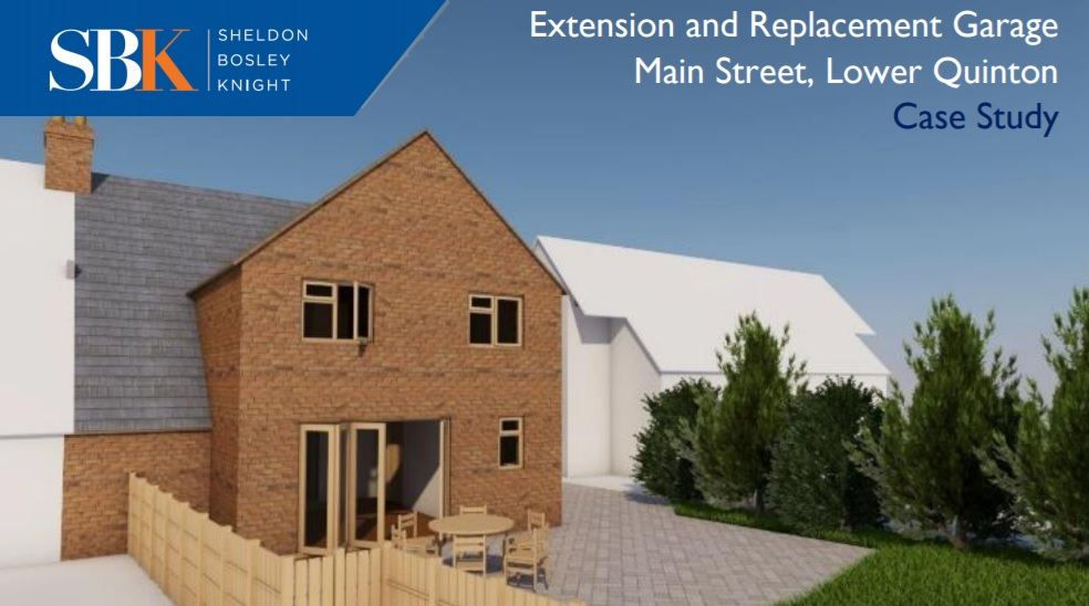 Extension and Replacement Garage Case Study - Lower Quinton