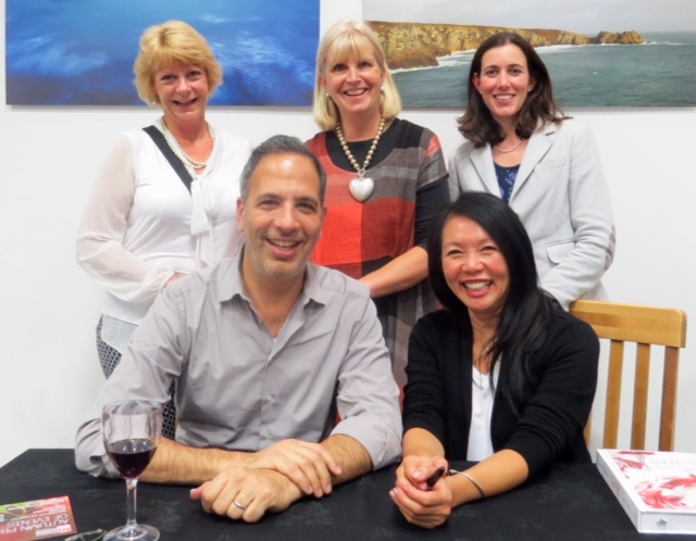 Yotam Ottolenghi and Helen Goh with SBK staff