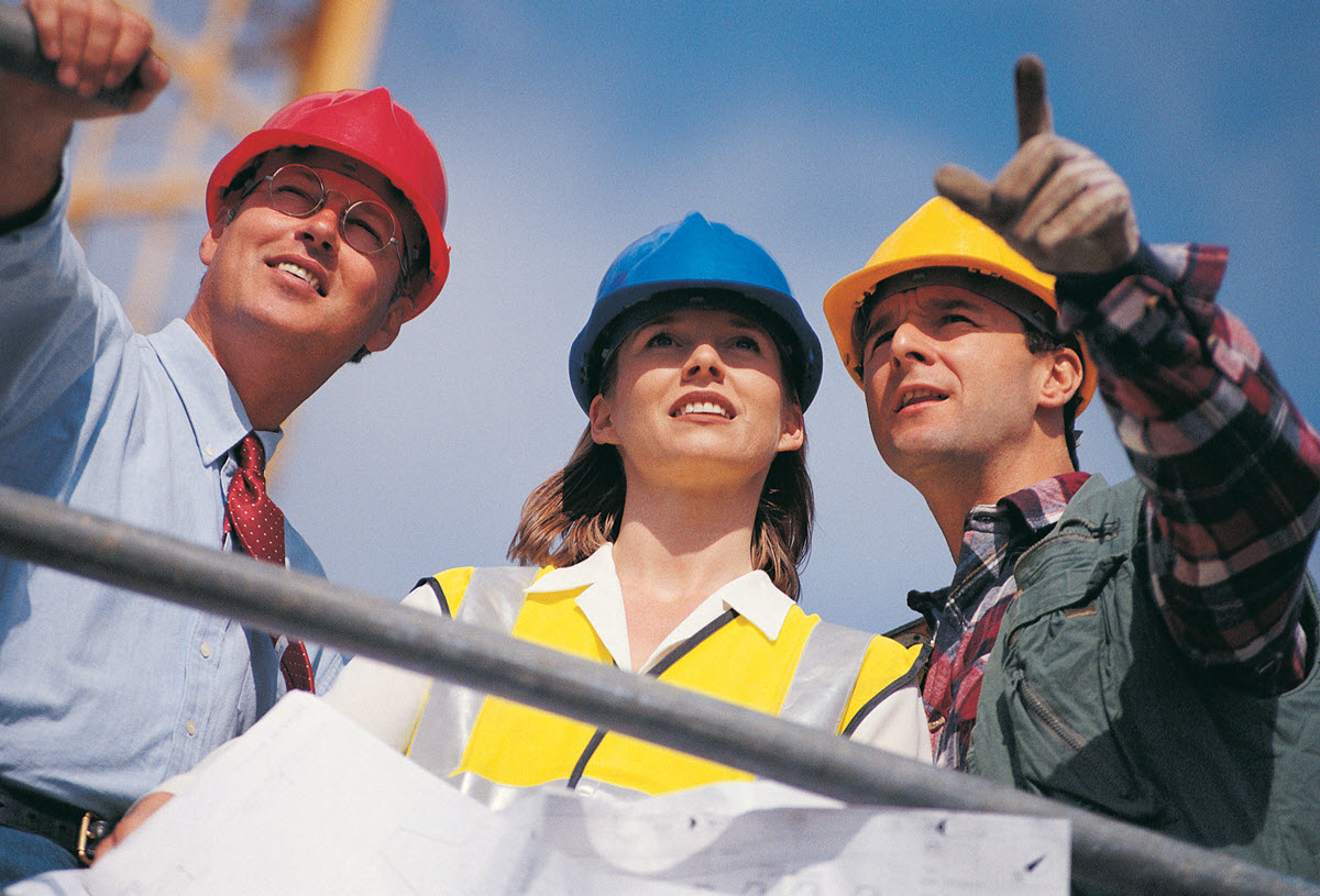 Architects and Developers on Building Site