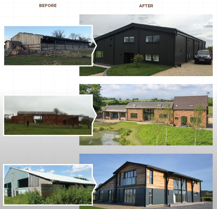 barn conversions before and after - Sheldon Bosley Knight