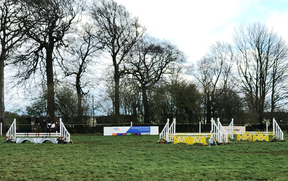 Sheldon Bosley Knight sponsored jump at Swalcliffe Horse Trials 2019