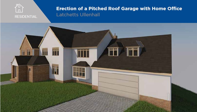 Latchetts Ullenhall - Planning Permission - Pitched Roof Garage with Home Office