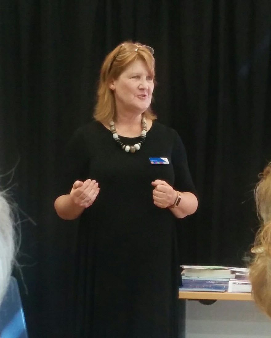 Katie Carr speaking at the Engage Festival Festival