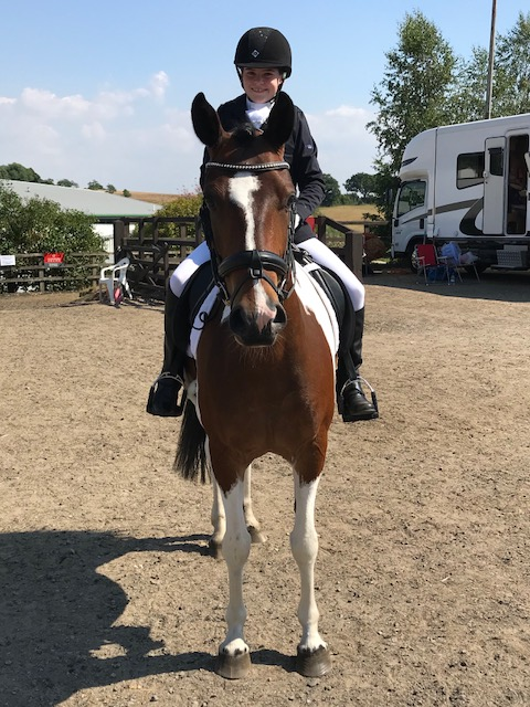 Isabella and Cookie at the RDA Championships July 2018
