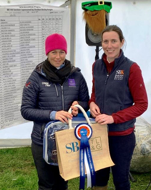 Laura Gaydon of SBK with Swalcliffe HT winner Christina Wiederkehr