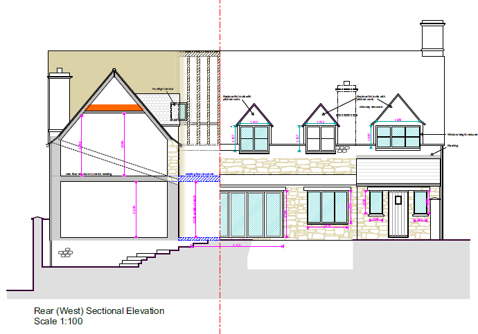 Approved Elevation - planning consent Sheldon Bosley Knight